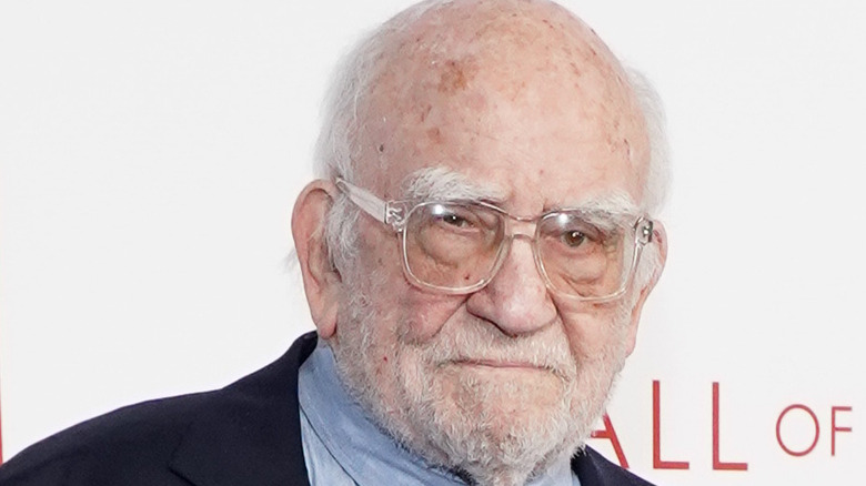 Ed Asner wearing glasses