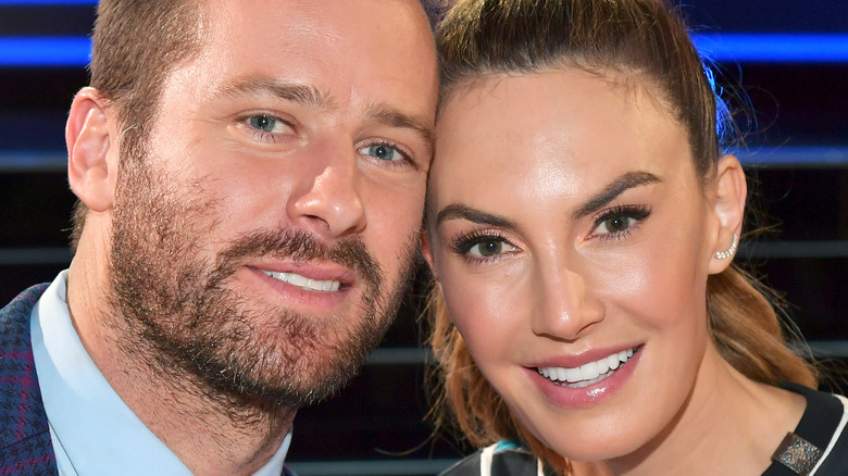 Armie Hammer and Elizabeth Chambers smiling