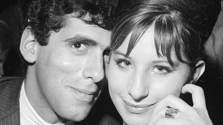 Elliott Gould and Barbra Streisand smiling