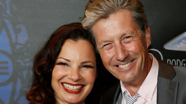 Fran Drescher and Charles Shaughnessy smiling