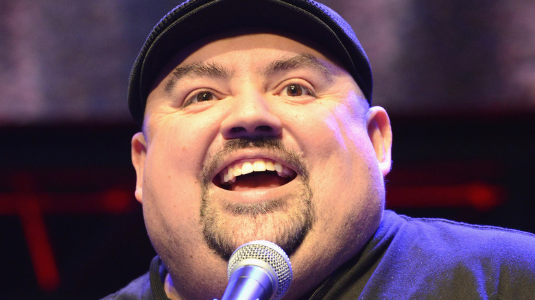 Gabriel Iglesias smiling with microphone