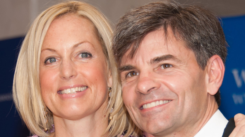 George Stephanopoulos and Ali Wentworth smiling