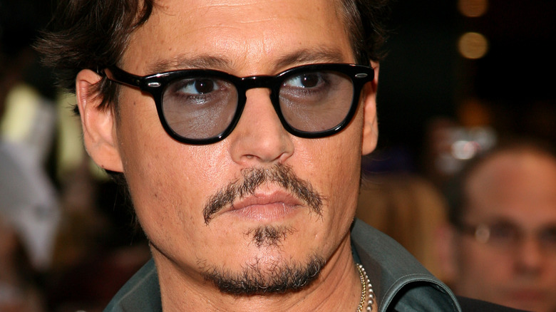 Johnny Depp on the red carpet.