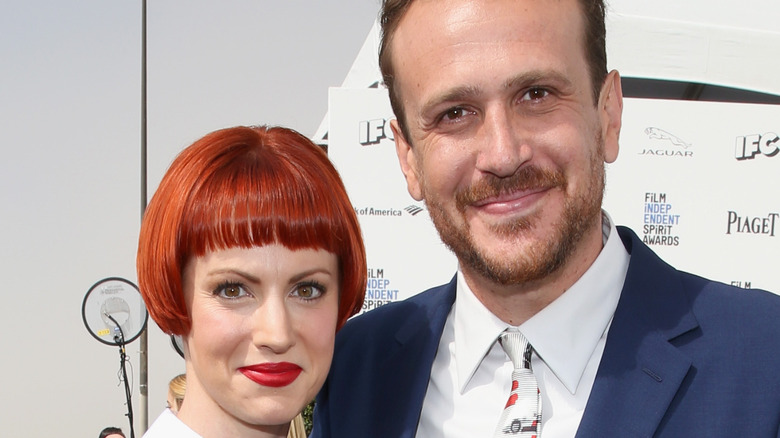 Jason Segel and Alexis Mixter at event