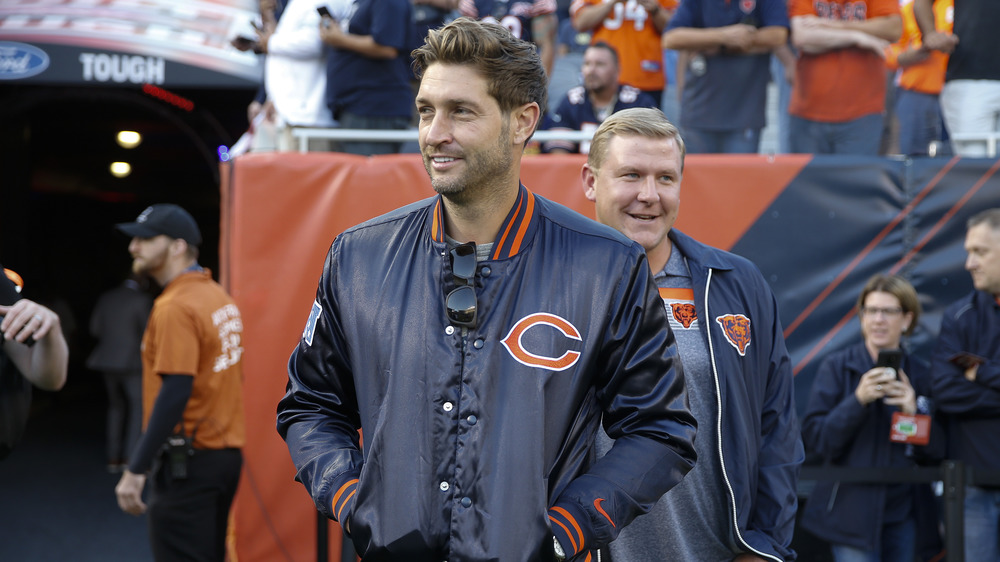 Jay Cutler smiling on the field