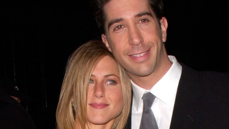 Jennifer Aniston and David Schwimmer hugging for the cameras