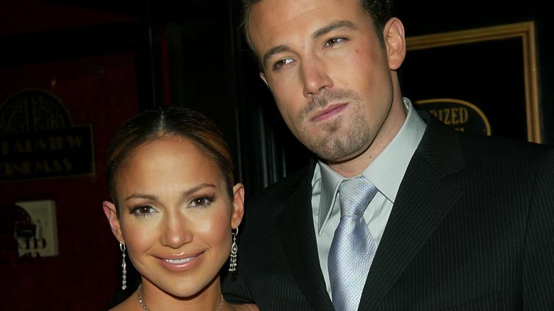 Ben Affleck and Jennifer Lopez on the red carpet.