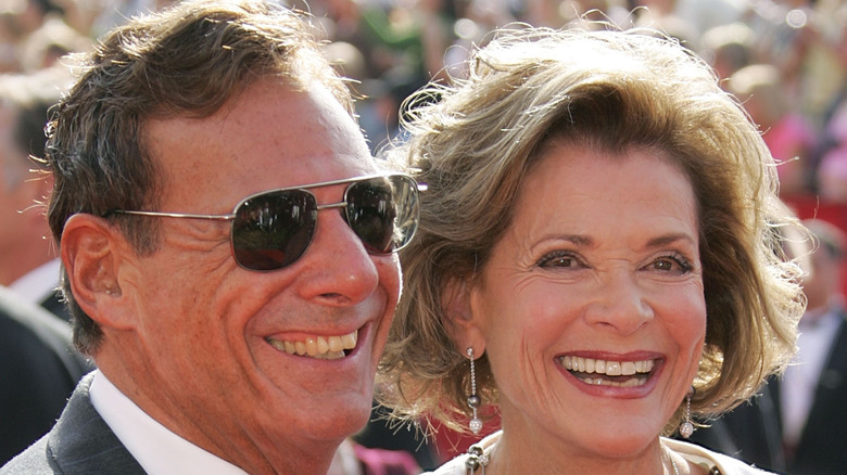 Jessica Walter and Ron Liebman smiling