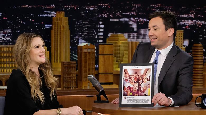 Drew Barrymore on Jimmy Fallon's show