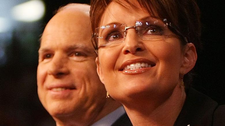 John McCain and Sarah Palin on stage