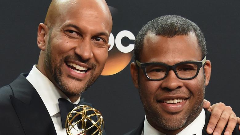 Keegan-Michael Key and Jordan Peele at Emmy awards