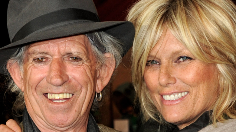 Keith Richards and his wife Patti Hansen arrive at a premiere