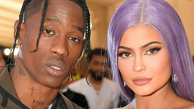 Kylie Jenner and Travis Scott at an event