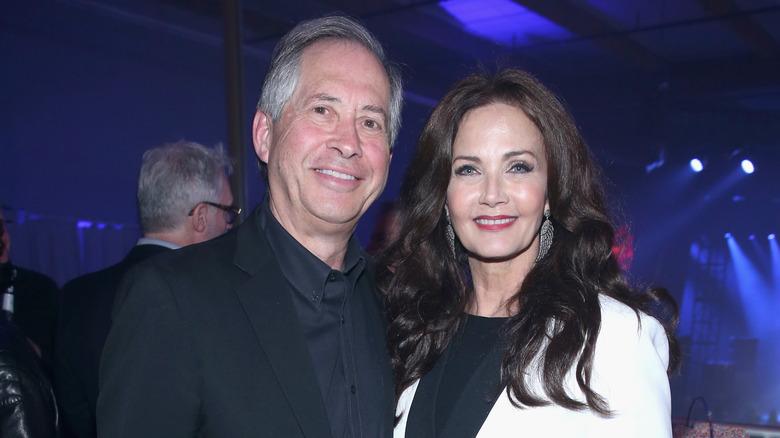 Lynda Carter and husband Robert Altman  at an event