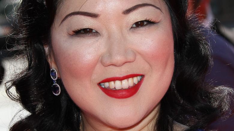 Margaret Cho wears red lipstick