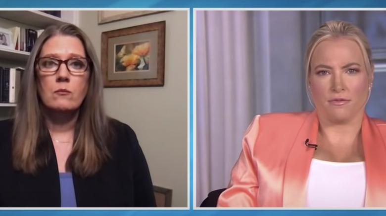 Mary Trump and Meghan McCain talking