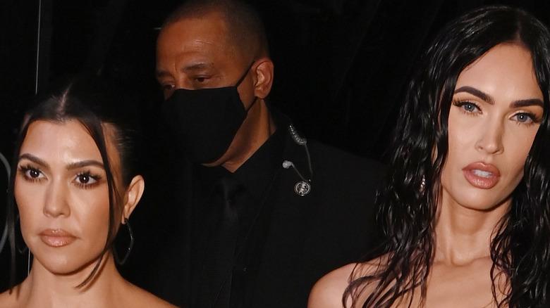 Kourtney Kardashian and Megan Fox at the VMAs