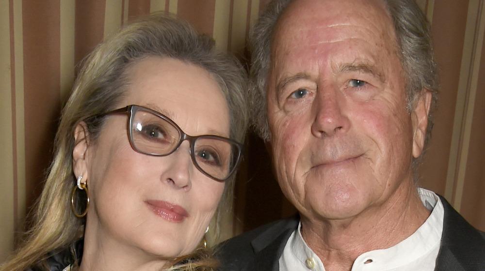 Meryl Streep posing with husband Don Gummer