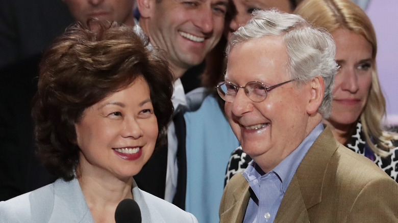 Elaine Chao and Mitch McConnell