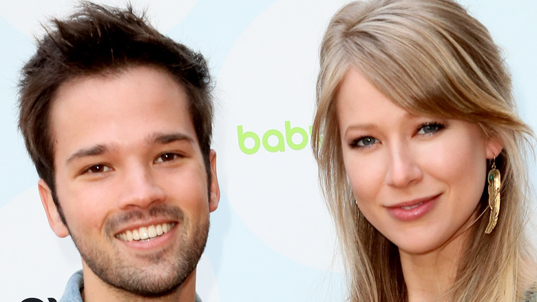 Nathan Kress and wife London Elise Moore smiling