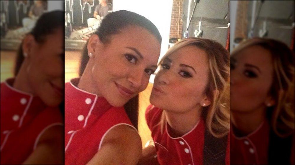 Naya Rivera and Demi Lovato in Glee