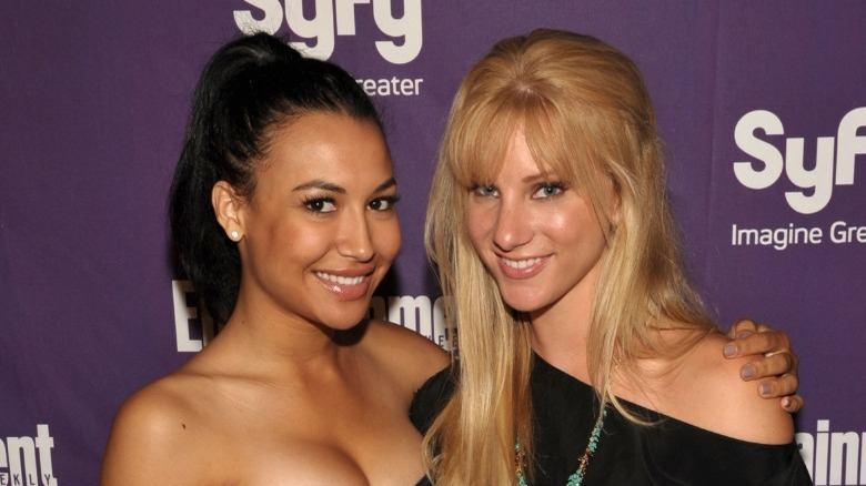 Naya Rivera and Heather Morris