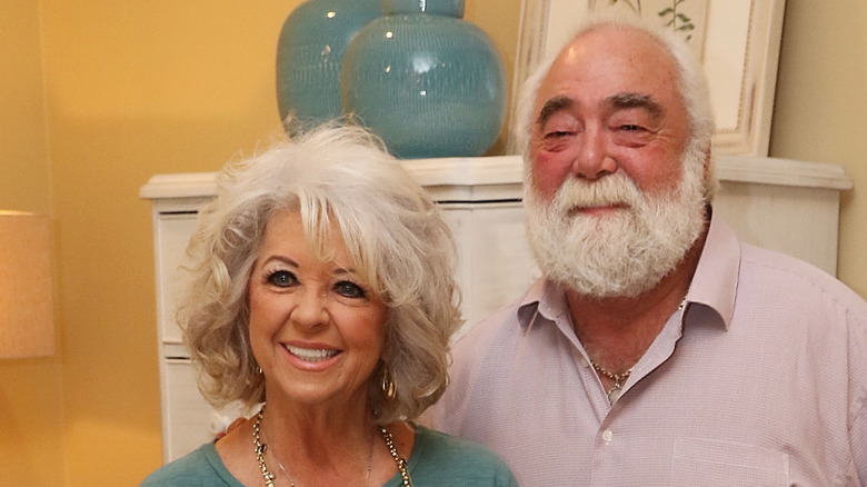 Paula Deen smiling with husband Michael Groover
