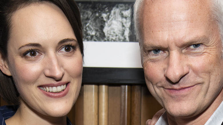 Phoebe Waller-Bridge and Martin McDonagh pose at an event together