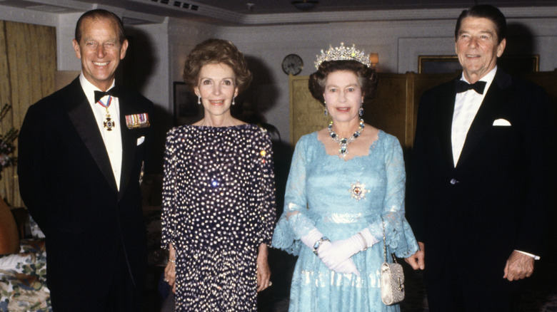 Prince Philip and Queen Elizabeth with the Reagans