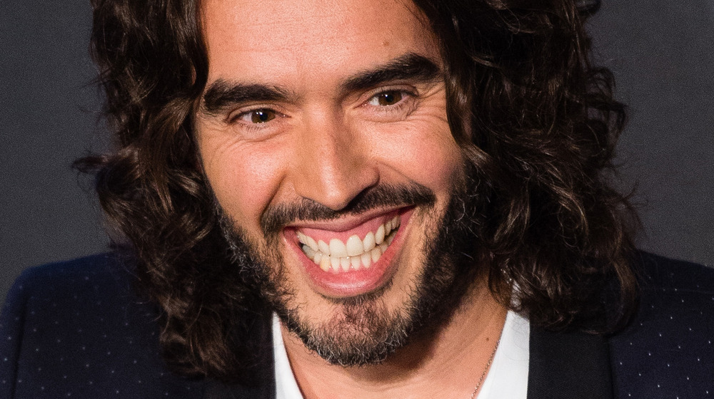 Russell Brand smiling