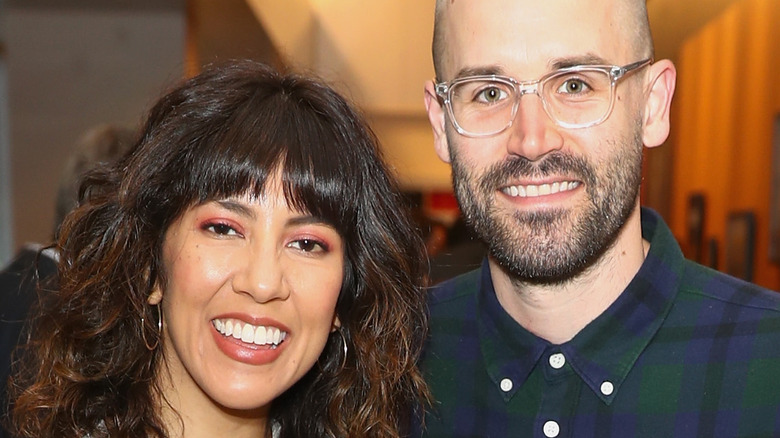 Stephanie Beatriz (L) and Brad Hoss (R) in 2018