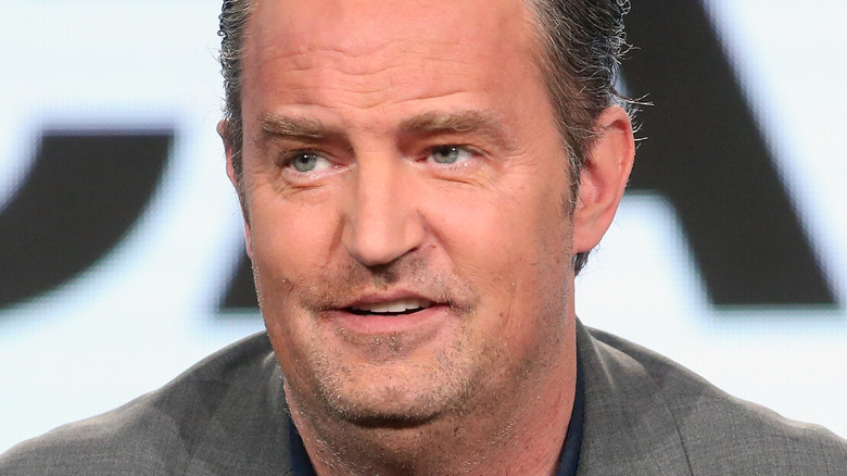 Matthew Perry at a press event