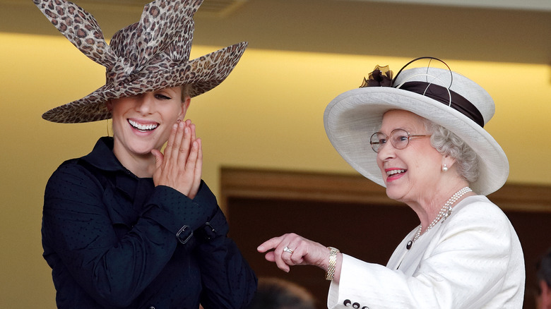 Zara Tindall and Queen Elizabeth at Ascot