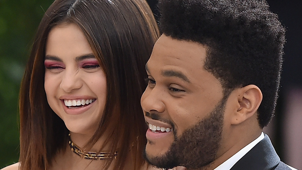The Weeknd with Selena Gomez