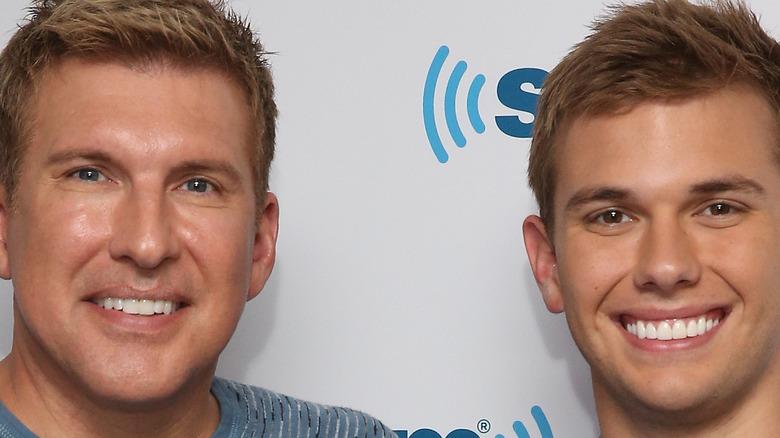 Todd Chrisley and Chase Chrisley smiling