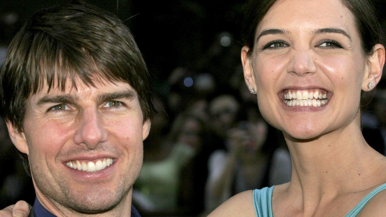 Tom Cruise and Katie Holmes on the red carpet