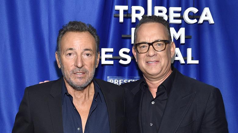 Tom Hanks and Bruce Springsteen at the Tribeca Film Festival