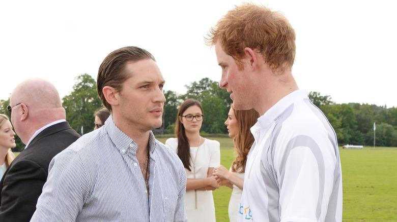 Tom Hardy Prince Harry talking