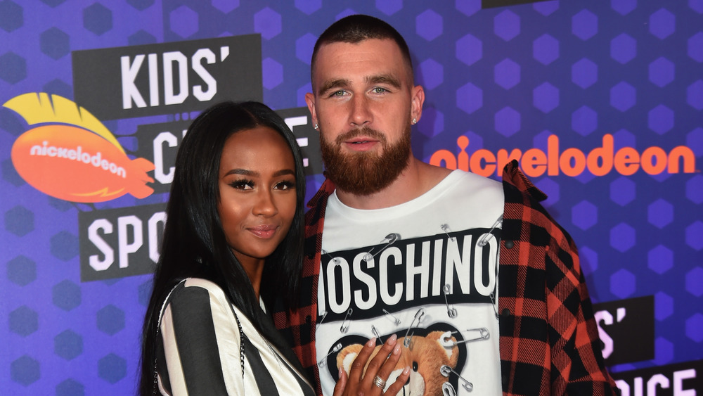 Travis Kelce and Kayla Nicole at Nickelodeon event