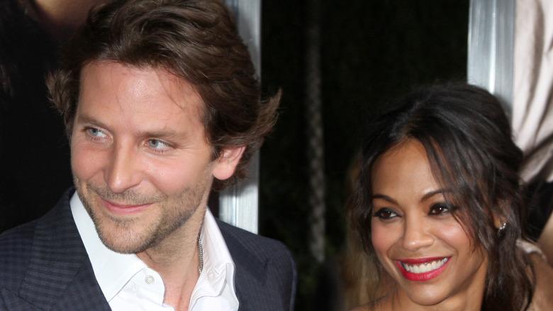 Zoë Saldaña and Bradley Cooper