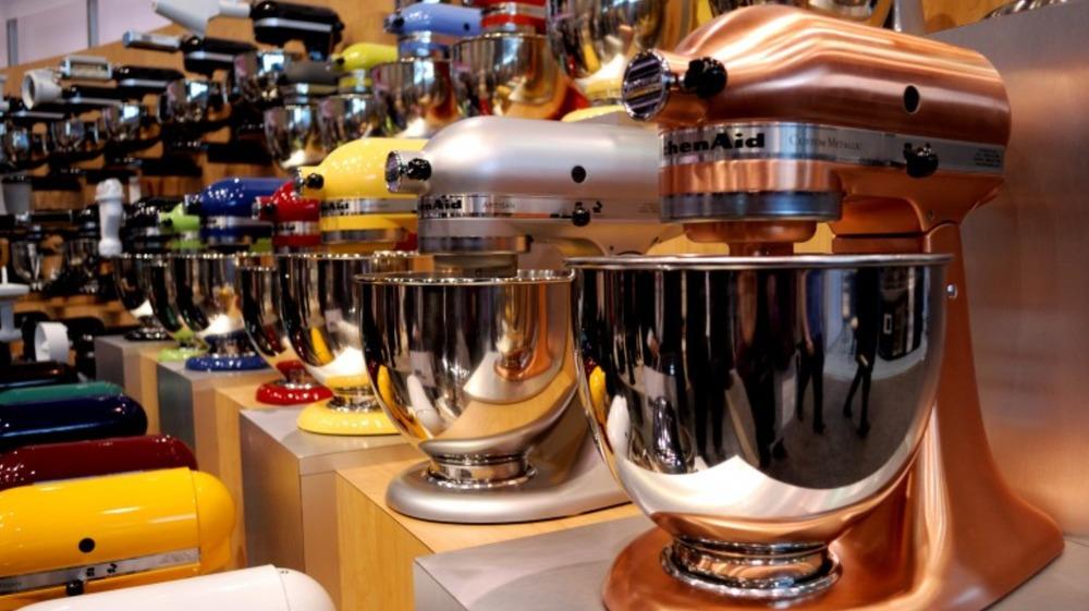 KitchenAid stand mixers at store
