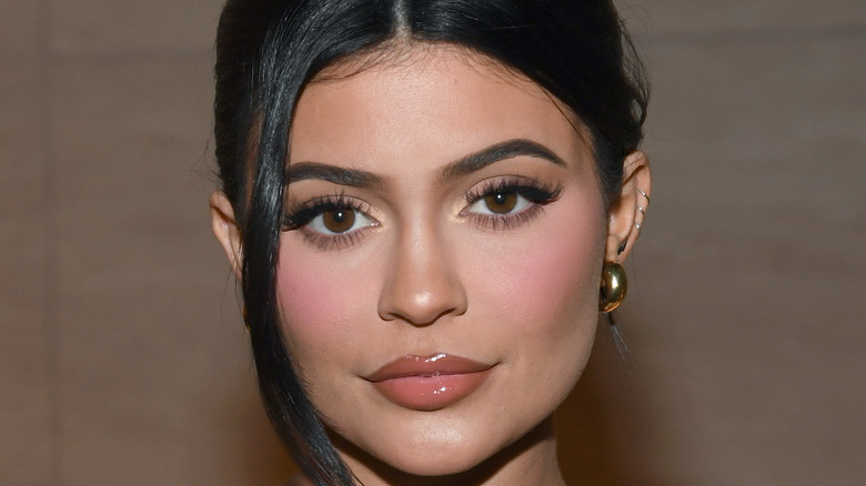 Kylie Jenner poses on the red carpet