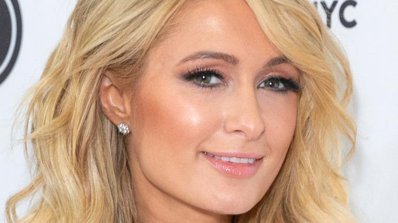 Paris Hilton smiling