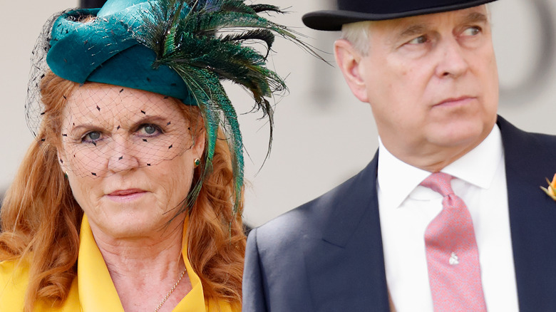 Sarah Ferguson and Prince Andrew at a royal event
