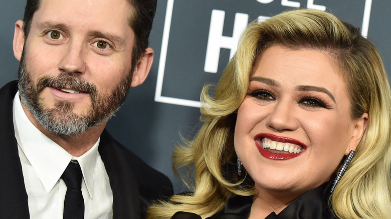 Brandon Blackstock and Kelly Clarkson on the red carpet