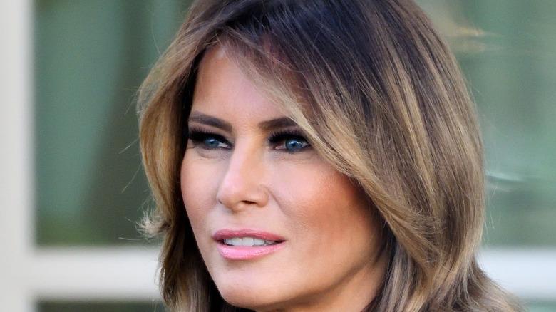 Melania Trump smiling at the White House