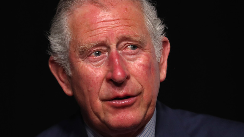 Prince Charles wearing blue suit
