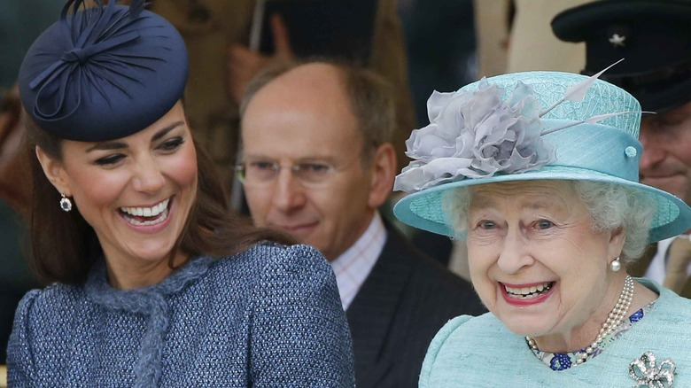 Kate Middleton and the Queen at a royal event