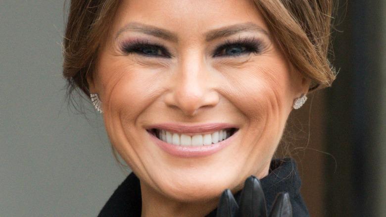 Melania Trump smiles
