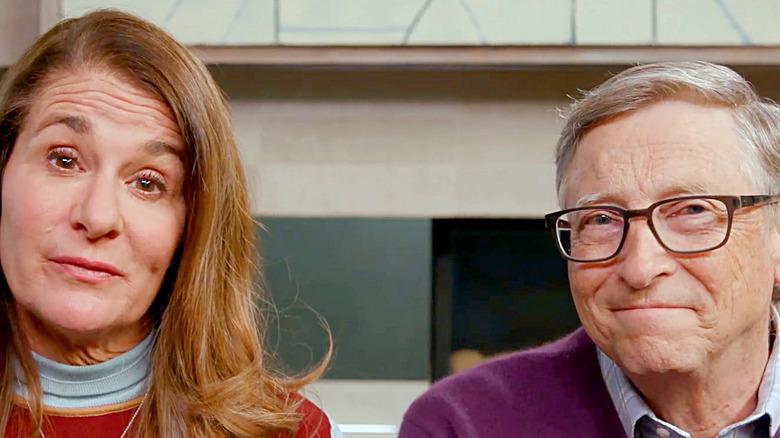 Bill and Melinda Gates speaking